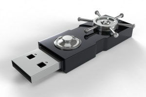 USB key with locks