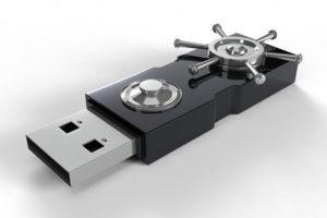USB key with locks
